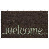 Gray Welcome Doormat